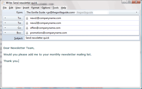 Example of an email created by the above mailto link